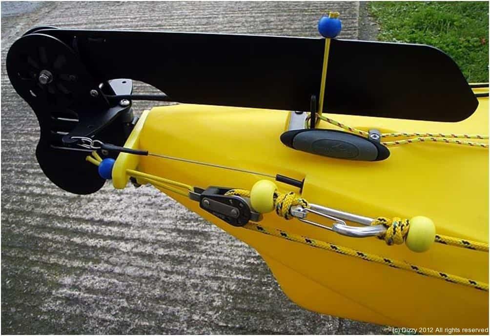 Rudder on kayak